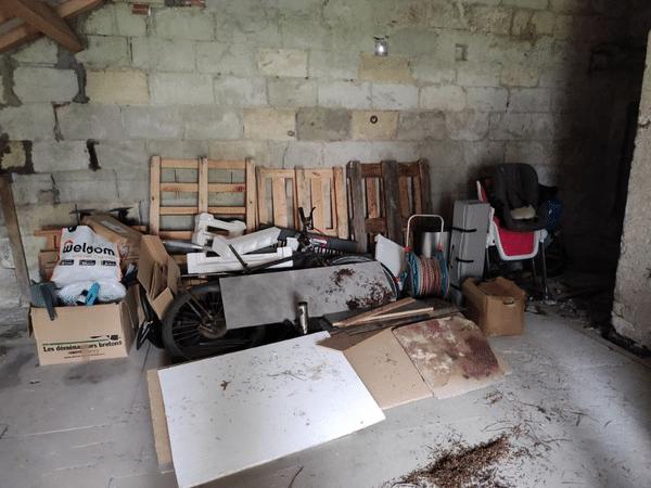 Débarras d'un garage à Rezé