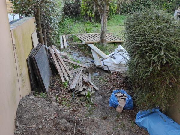 Débarras d'un garage dans le centre de Nantes